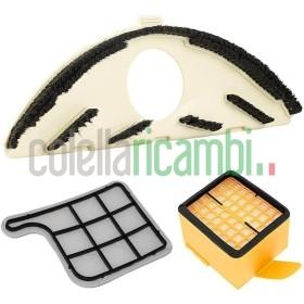 Kit di Ricambi Folletto Adattabili VK135/136 1 Sottospazzola 1 Griglia 1 Filtro Hepa