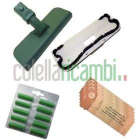 Kit Risparmio Adattabili Folletto Vk120 12 122 8 Sacchetti 10 Profumi 1 Spazzola Completa Con Setole