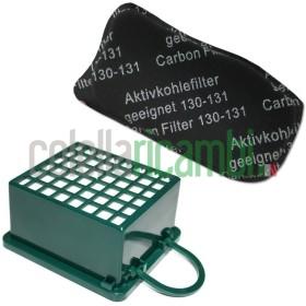 KIT Filtri Hepa Filtro Odori Adattabili per Folletto Vk 130 Vk131