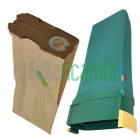 Kit Risparmio Compatibili Folletto vk 122 8 Sacchetti 1 Unita vk122