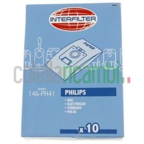 Sacchetti Adattabile Philips Electrolux Interfilter