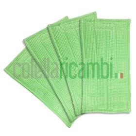 Set Panni Universali Pulilava Per Folletto Sp 520 Sp 530 Soft 4Pz Con Detergente