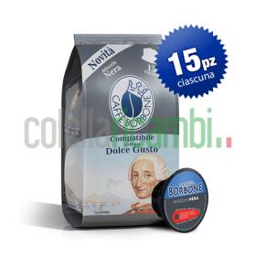 15 Capsule Caffè Borbone Compatibile Dolce Gusto Miscela Nera