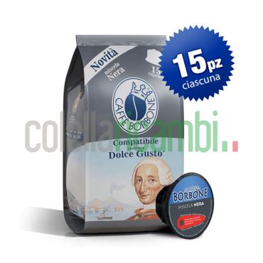 Caffè Borbone Compatibile Dolce Gusto Miscela Nera - Confezione Da 90 Pezzi Capsule