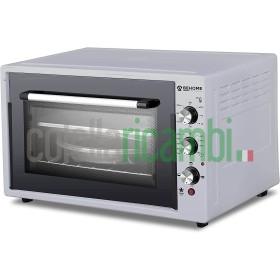 Behome Forno Elettrico 60 litri Ventilato Autopulente, Smaltato, Temperatura fino a 320° Doppio Vetro