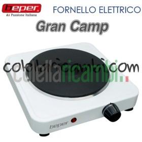 Fornello Elettrico con Piastra in Ghisa Gran Camp Beper