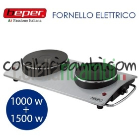 Fornello Elettrico Doppia Piastra 185/155 2500W Beper