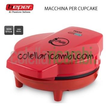 Macchina Muffin Cupcake Piastra Antiaderente 1000W Beper
