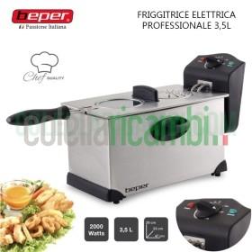 Friggitrice Elettrica Professionale in Acciaio 2000W Beper