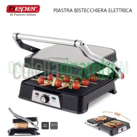 Piastra Bistecchiera Elettrica in Teflon Antiaderente 2000W Beper