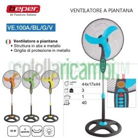 Ventilatore a Piantana con Luce Notturna 3 Velocità Beper