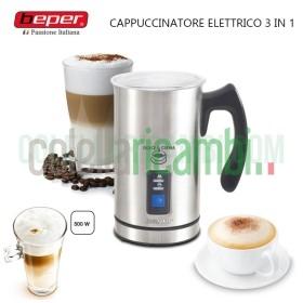 Montalatte Schiumalatte Cappuccinatore Elettrico in Acciaio Automatico 3 in 1 Dolce Crema Beper 90.515