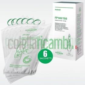 Sacchetti Originali Vorwerk Filtrello Premium FP140 FP150 per Folletto VK140 VK150
