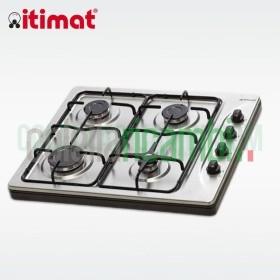 Piano Cottura Acciaio Inox 4 Fuochi Valvolato GPL/Metano Itimat