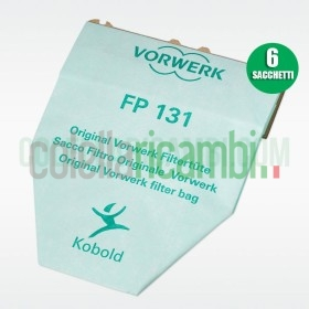 Sacchetti Originali Vorwerk Folletto Super Filtrello VK130 VK131 (6 PZ)