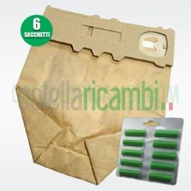 Sacchetti e Profumi Compatibili Folletto VK130 VK131 6 Sacchetti e 10 Profumi