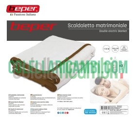 Scaldaletto Matrimoniale Elettrico in Lana Sintetica Beper RI.411X