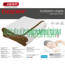 Scaldaletto Singolo Elettrico in Lana Sintetica Beper RI.401X
