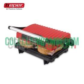 Tostiera Deluxe Elettrica con Piastra Regolabile 700W Beper 90.604